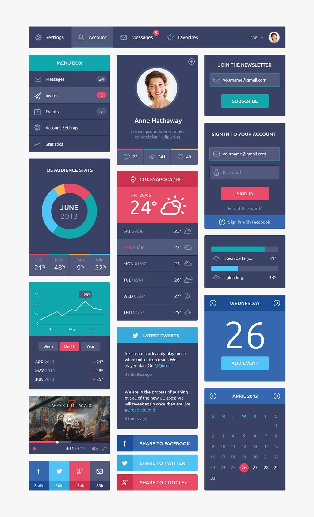 Flat Design UI by DarkStaLkeRR
