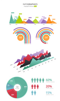 Beautiful Infographic Elements PSD