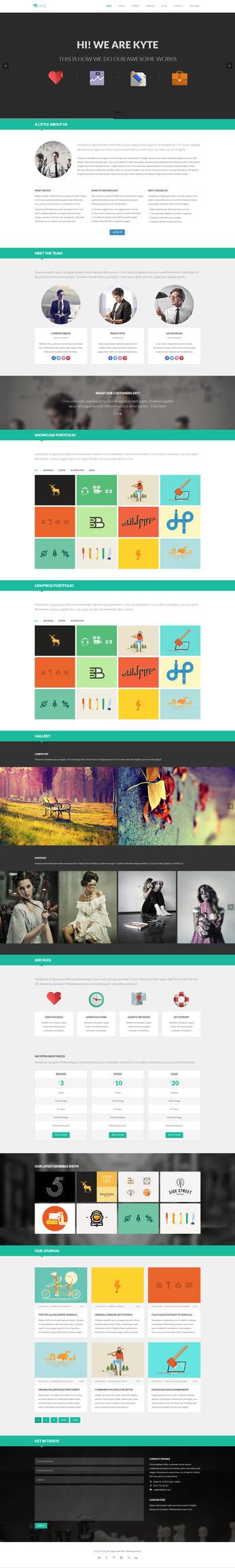 Kyte - Flat Onepage Responsive HTML5 Template by DarkStaLkeRR