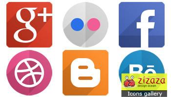 Flat Social Icons