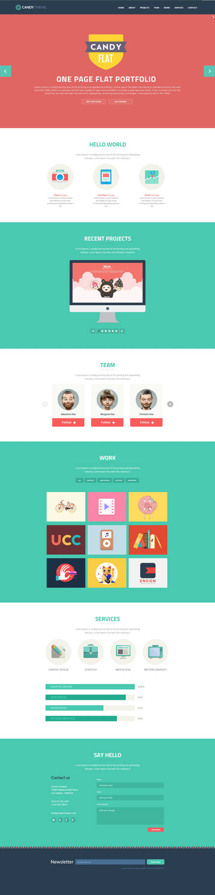 Candy - Flat Onepage Responsive HTML5 Template by DarkStaLkeRR