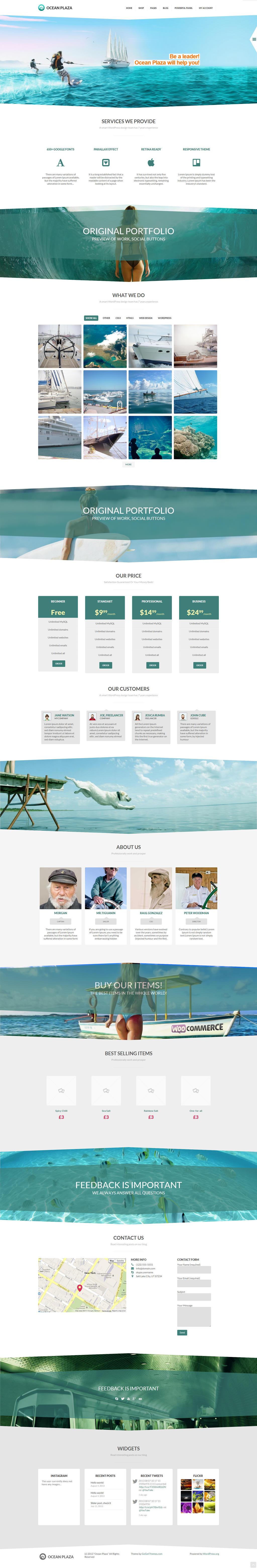 OceanPlaza WordPress Parallax Theme by DarkStaLkeRR