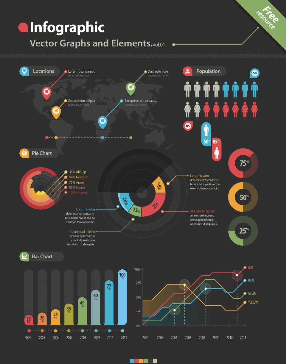 Infographic elements by DarkStaLkeRR