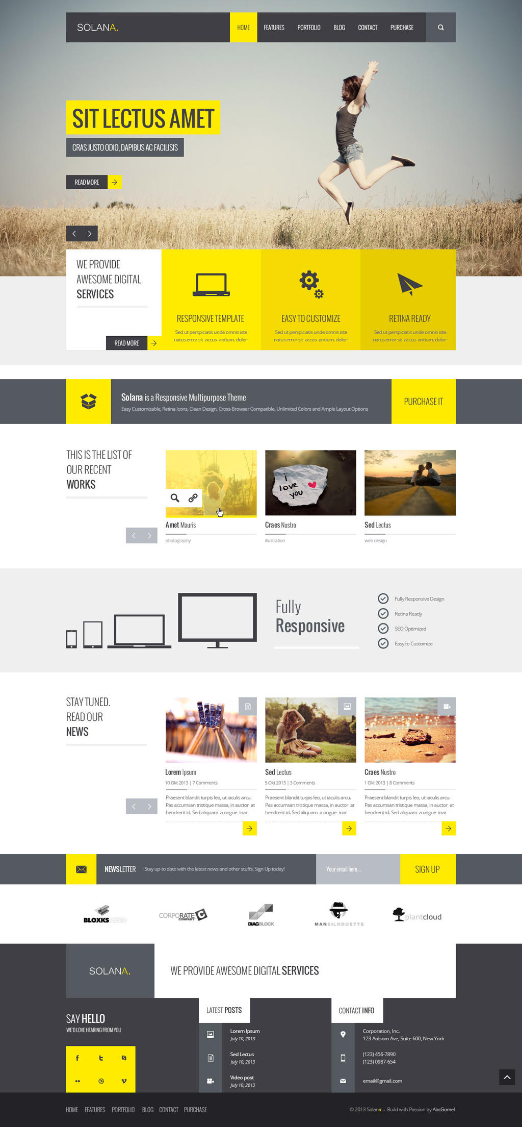 Solana - Multipurpose PSD Template by DarkStaLkeRR