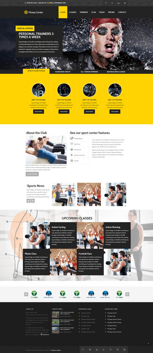 Fitness - Sport Center Gym Club Responsive by DarkStaLkeRR