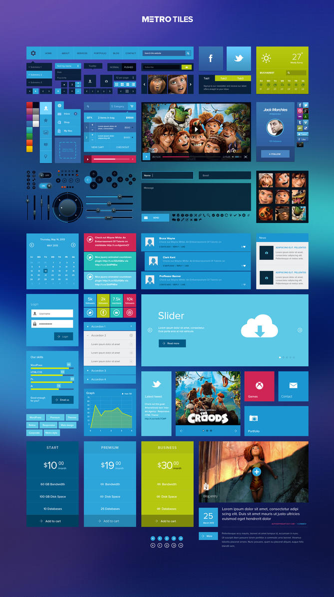 Metro Tiles UI Kit by DarkStaLkeRR