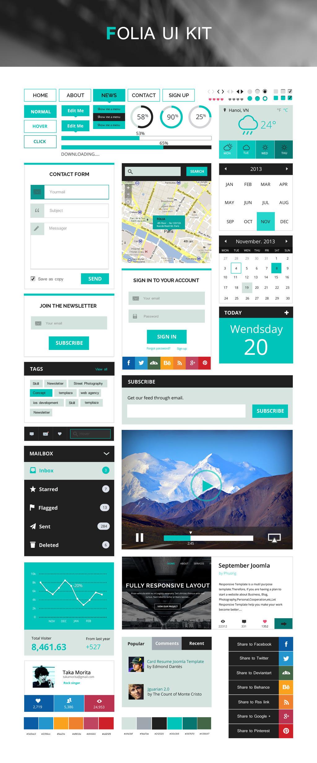 Free Folia UI Kit