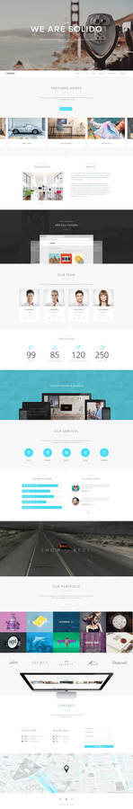 Solido - Responsive One Page Parallax Template