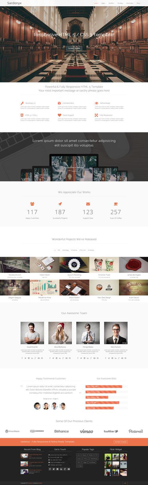sardonyx fully responsive business template by darkstalkerr on deviantart. Black Bedroom Furniture Sets. Home Design Ideas
