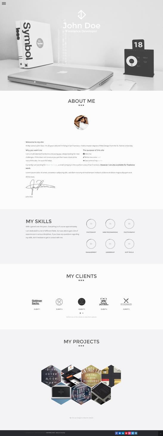 Modern Resume Designs Pintres
