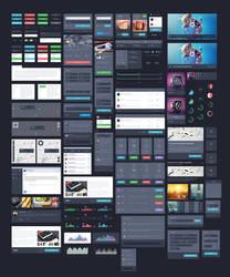 Dark UI Kit by DarkStaLkeRR
