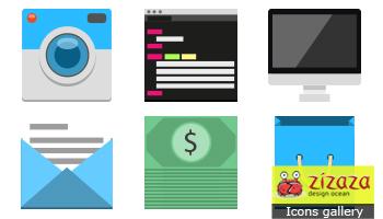 Flat Icons Set by DarkStaLkeRR