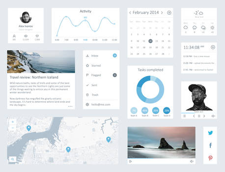 Clean UI Kit by DarkStaLkeRR