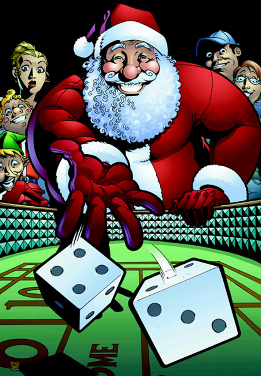 Gambling Santa, The Finale by artsavant