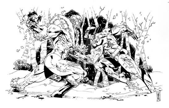 Sabretooth vs Wolverine