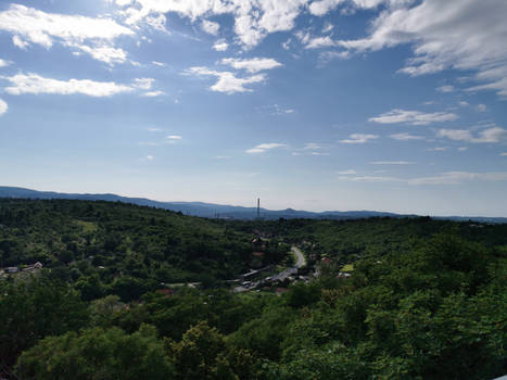 Summer mountain at Miskolc