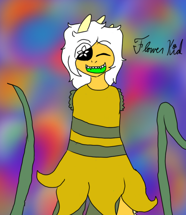 Flower Kid - Monster Kid and Daffodil Fusion by tAVROSxT3R3Z1LOVER