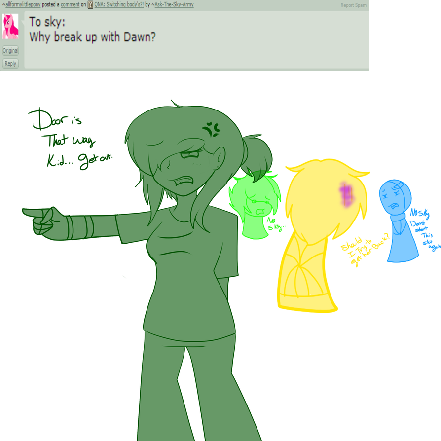 Bajancanadian And Jerome Fan Art Qna: dawn. by ask-team-crafted