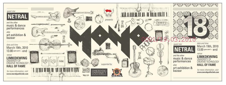 Monophone Ticket Design