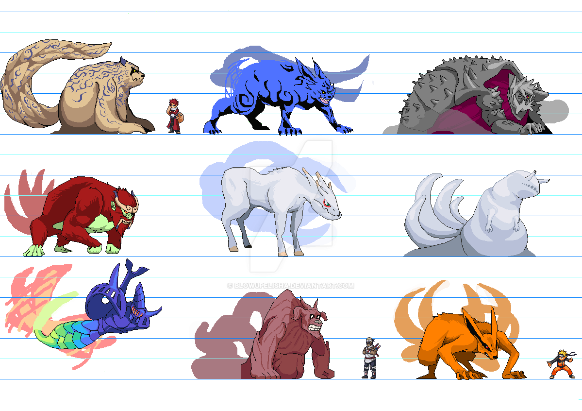Chibi Tailed Beasts Showing Gallery For Chibi Tailed Beasts