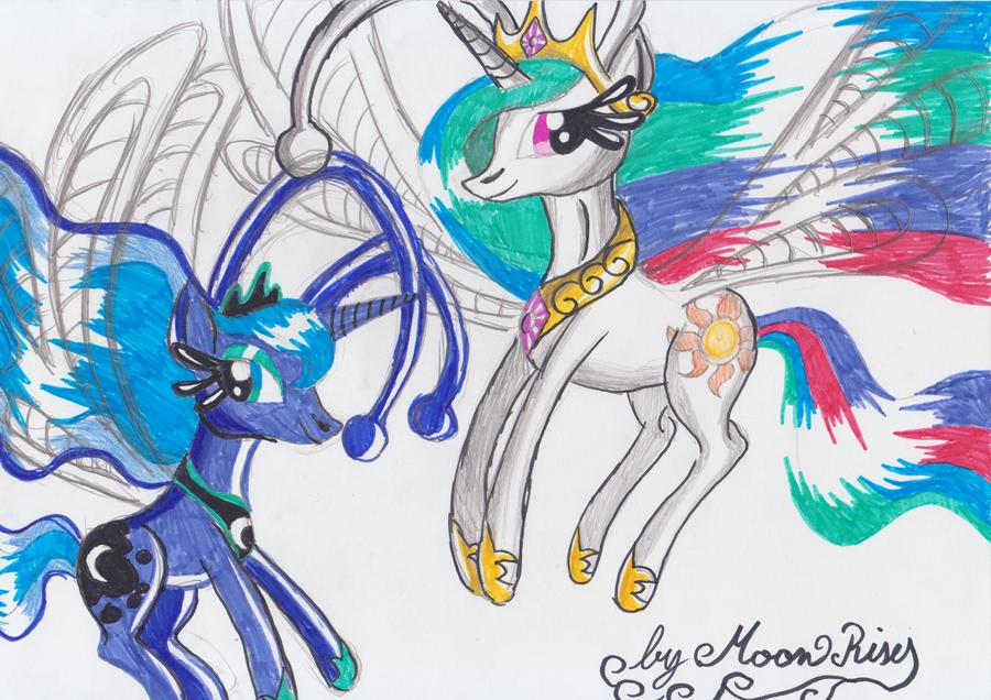how to draw my little pony princess celestia