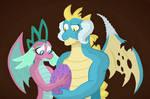 Mlp Spike's parents by MoonRises