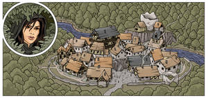 Small medieval town.