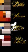 Balto character colour refferences