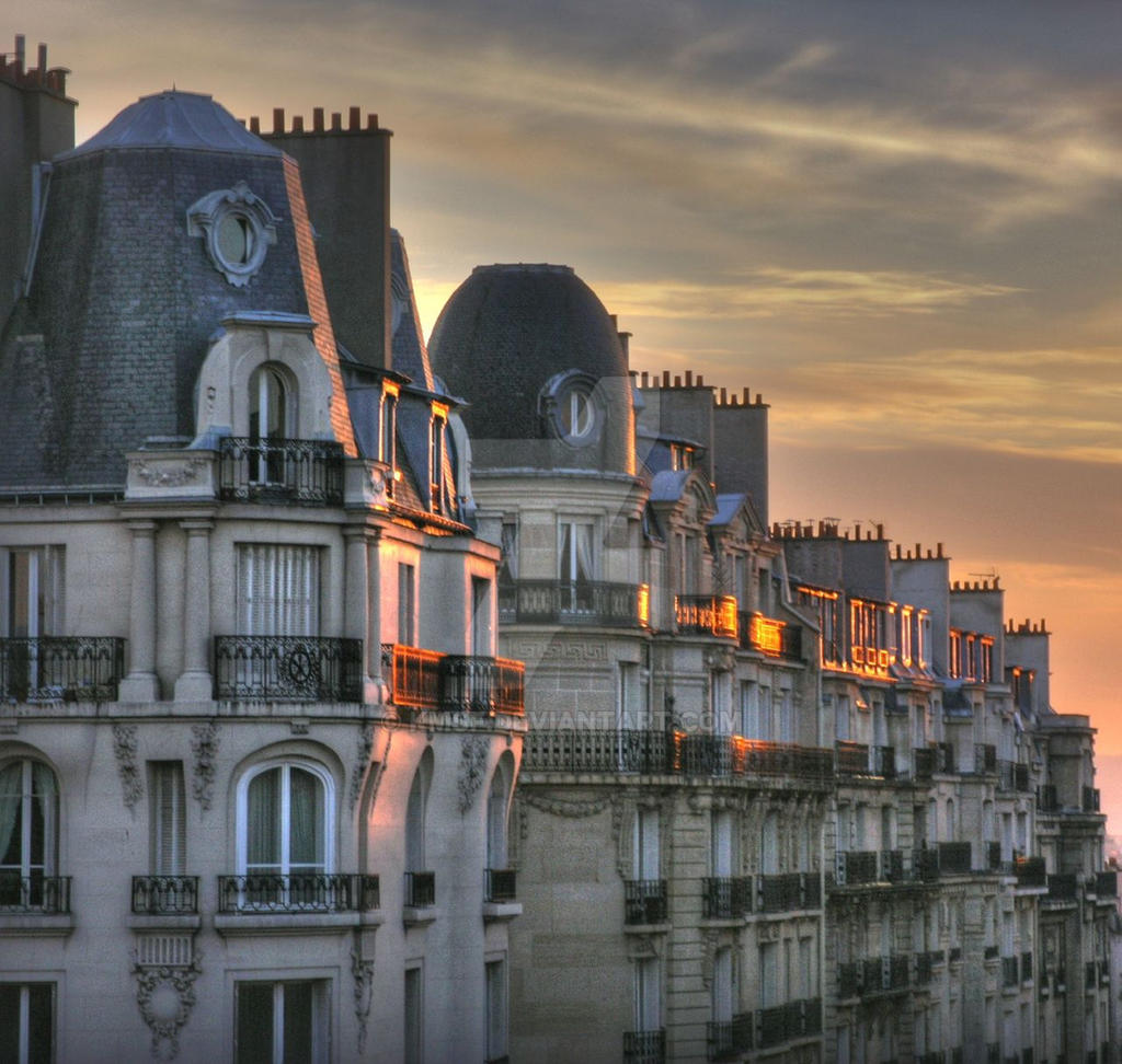 sunset over Paris rooftop by kmsf on DeviantArt