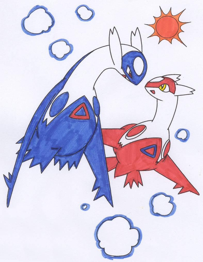 Kleurplaten Pokemon Latias Latios.Latios And Latias By Eagla The Eagle On Deviantart