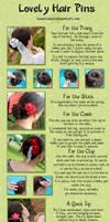 How to Wear Kanzashi 02 by hanatsukuri