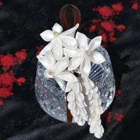Wedding Wish Kanzashi Headband by hanatsukuri