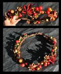 Autumn Leaves Crown. Kanzashi.