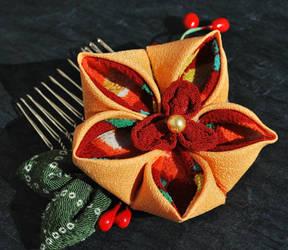 Orange Blossom. Kanzashi 01