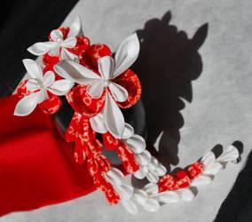 Love in Flowers. Red Iris Shibori.