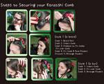 Kanzashi Comb Closeup Tutorial