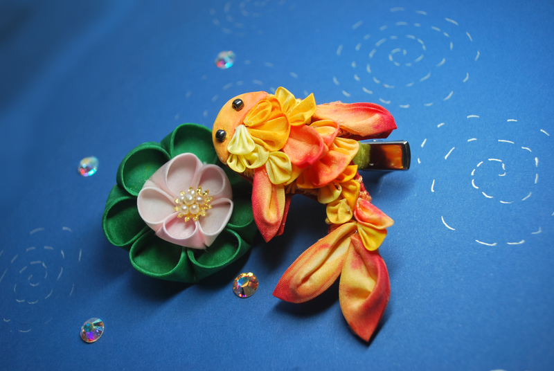 Goldfish Kanzashi. Kingyo. by hanatsukuri