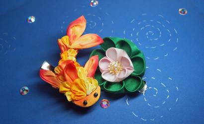 Goldfish Kanzashi. Kingyo 02. by hanatsukuri