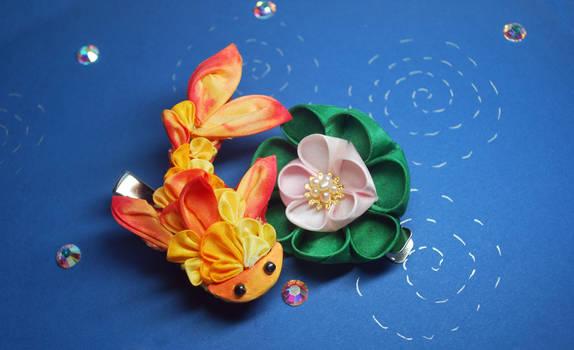 Goldfish Kanzashi. Kingyo 02.