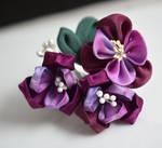 Purple Kanzashi