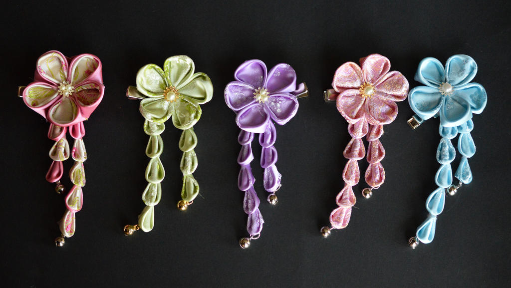 Candy Kanzashi Set Pastels by hanatsukuri