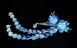 Wishing for blue skies. Long Blue Sakura.  by hanatsukuri