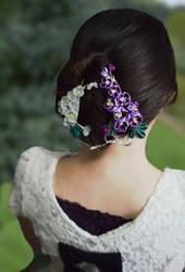 Lilac Kanzashi Model.