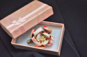 Plum Blossom Clip in kimono silk.
