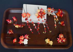 Autumn Midnight Masquerade...leaves in miniature.