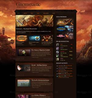 Gnometastic - Warcraft based Wordpress theme
