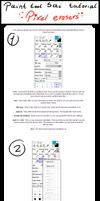 Paint tool sai tutorial : Pixel Eraser