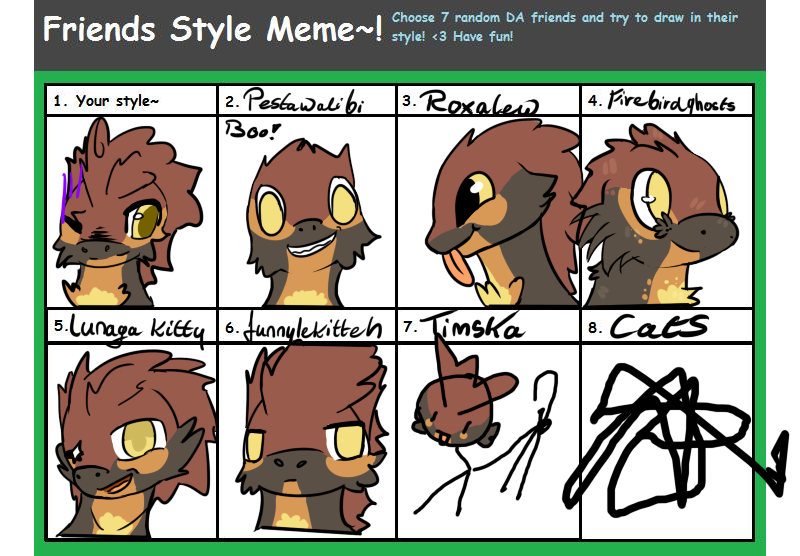 Friend style meme by Amanska