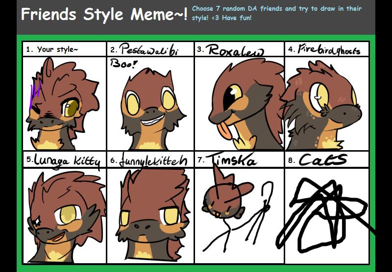 Friend style meme by Amanska