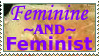 Stamp: Feminine AND Feminist by diviana